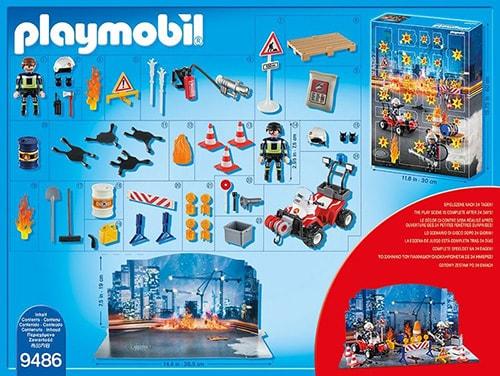 PLAYMOBIL Adventskalender Feuerwehreinsatz auf der Baustelle Inhalt