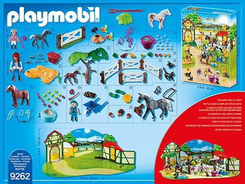 PLAYMOBIL Adventskalender Reiterhof Inhalt