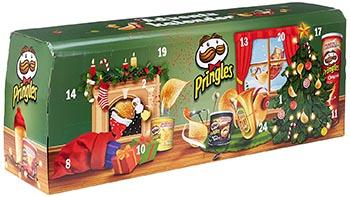 Pringles Chips Adventskalender 2020 - Modell grün / hellblau